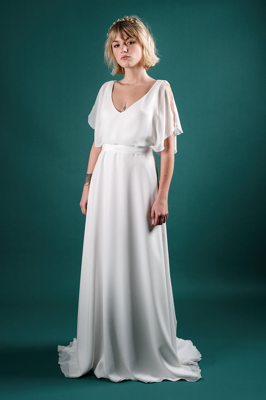 robe dentelle romantique moderne pose toulouse créateur louise dentelle colection 2020